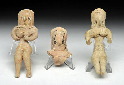 ARTEMIS GALLERY Lot of 3 Indus Valley Mehrgarh Pottery Fertility Idols