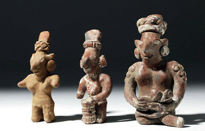 ARTEMIS GALLERY Lot of 3 Jalisco Sheepface Bichrome Figures