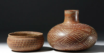 ARTEMIS GALLERY Pair of Finely Painted Nayarit Pottery Vessels