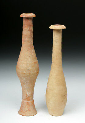 ARTEMIS GALLERY Pair of Hellenistic Greek Terracotta Spindle Jars