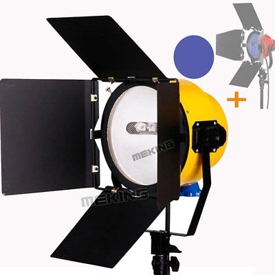 2000W Continuous Yellow Head Studio Video Light + Blue Daylight Filter Glass Kit