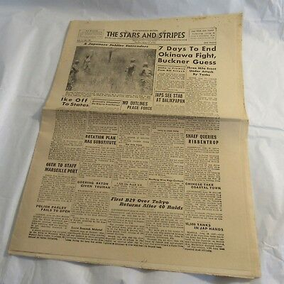 1945 Stars and Stripes US Armed Forces Newspaper Nice-Marseille Edition RARE