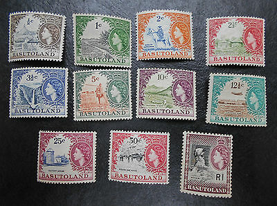 BASUTOLAND 1961 0.5c to R1 SG 69 - 79 Sc 72 - 82  set 11 MNH some gum toning