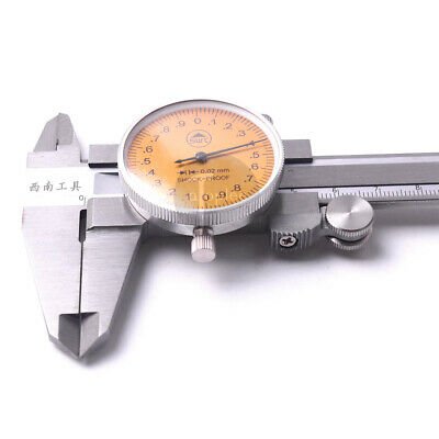 0-150mm Metric Measurement Dial Caliper Vernier Micrometer Stainless Steel