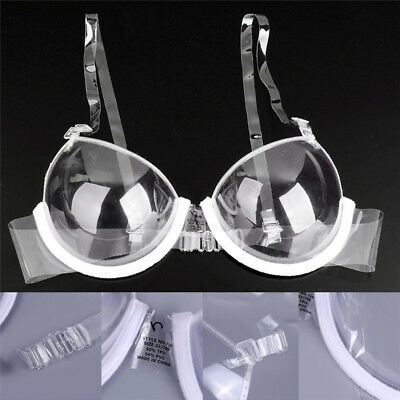 Fashion Transparent Clear Push Up Bra Strap Invisible Bras Women Underwire S&K