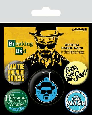 Button Badge 5er Pack BREAKING BAD - Better Call Saul! 1x38mm & 4x25mm 80490 NEU