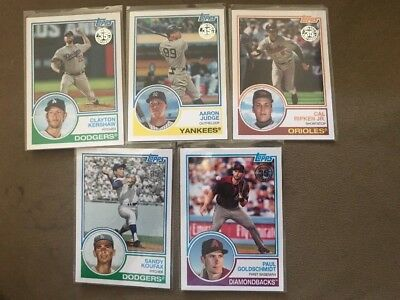 lot of 15 2018 topps 1983 inserts w/ Aaron Judge Sandy Koufax Cal Ripken Kershaw
