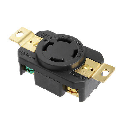 L14-30 Generator Lock Receptacle - 30A 125/250V, 3P 4W US Plug YUADON Authorized
