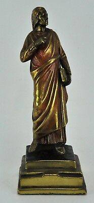 Vintage bronzed sculpture of ancient man, probably Greek or Rome. (BI#MK/180210)