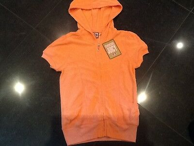 NWT Juicy Couture New & Gen. Ladies Small Peach Cotton Towelling Hoody With Logo