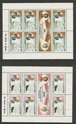 ST VINCENT GRENADINES 1981 ROYAL WEDDING (3 x Sheetlets), S.G 195a-199a  MNH**