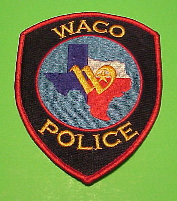 WACO  TEXAS  TX RED BORDER POLICE PATCH   FREE SHIPPING!!!