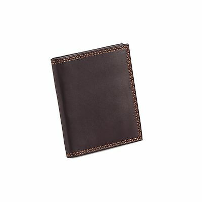 Style n Craft 300703-BR Slim Bifold Credit Card Case in Brown Leather