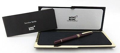 Montblanc Meisterstuck Penna A Sfera Bordeaux Box & Papers In Asta Da 1 € !!