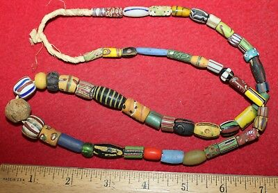 Strand of Mixed Variety Early Trade Beads