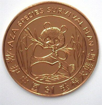 Liberia 1997 Panda Dollar - Aza Species Survival Plan -  Near Perfect Unc Pl