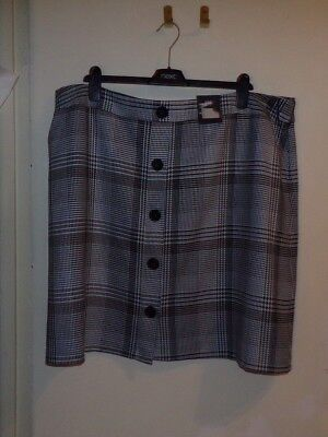 8a09711df0f Bnwt M s Marks Spencer Ladies Blue Mix Fully Lined Mini Skirt Size 22 Long  Tall