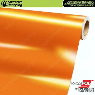 ORACAL 970RA-300 GLOSS MANDARIN Vinyl Vehicle Car Wrap Decal Film Sheet Roll