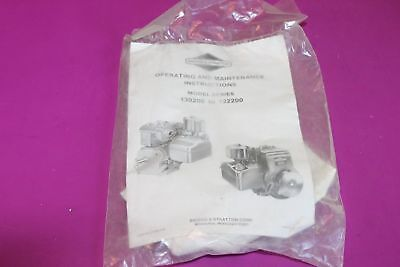Briggs & Stratton Series 130200 to 132200 Operating & Maintenance Instructions