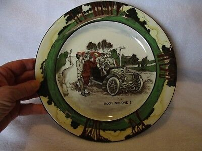 "Royal Doulton Room for One Car Motoring Series Art Nouveau 9 5/8"" Pottery Plate"
