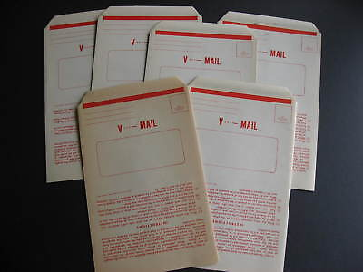USA WWII V mail GI stationery 6 unused, one is toned, see, expand pictures!