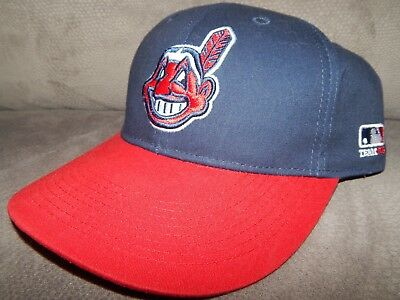 d7ea94eb OC Sports Cleveland Indians Hat Cap Chief Wahoo Team MLB Adjustable Strap  Back
