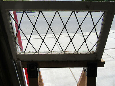 ~ Antique Stained Leaded Glass Transom Window ~ 32 X 19 ~ 1 Of 2 ~ Salvage