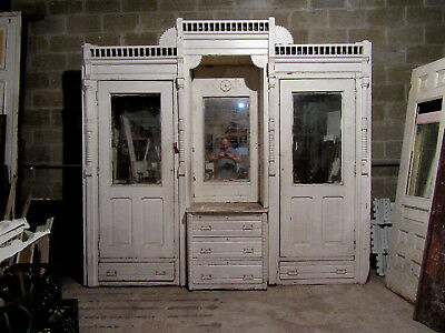 ~ Antique Carved Walnut Closet Front ~ Built In Armoire~ 110 X 103 ~ Salvage