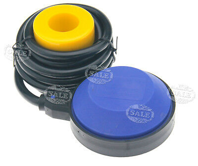 Blue AC 250V Round Float Switch For Electrical Pump w/2M Cable & Instruction