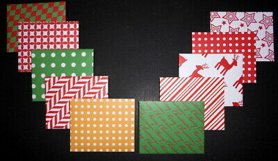 CUTE COLOURFUL CHRISTMAS MINI  ENVELOPES ~ Pack of 10  - 100mm x 80mm