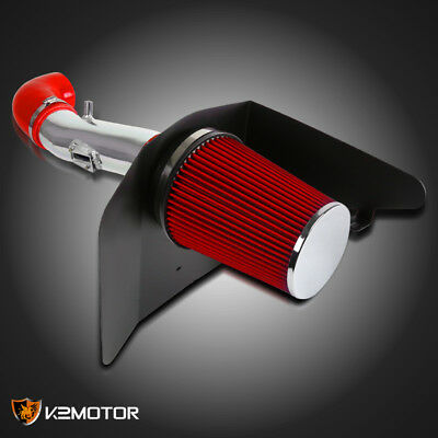 2012-2015  Chevy Camaro LT LS 3.6L V6 Cold Air Intake Induction Kit+Red Filter