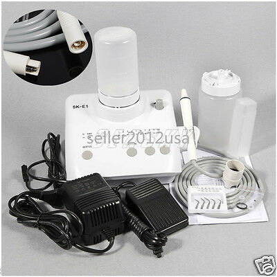 Dental Ultrasonic Piezo Scaler with Handpiece Tips Bottles fit EMS/WOODPECKER SA