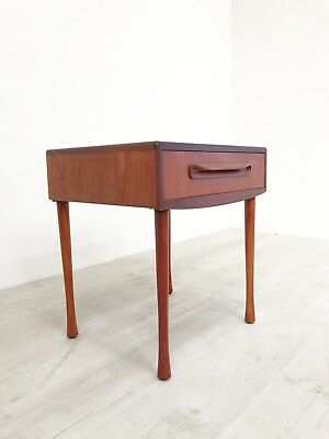 Vintage G Plan Fresco Mid Century Teak Single Console Table With Drawer On Legs