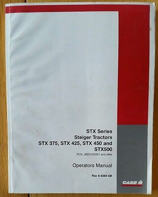 Case/ih Stx Series Tractor Operators Manual