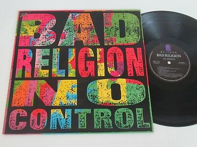 Bad Religion/no Control  Lp 1989 Usa Epitaph E-86406-1