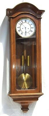 Exquisite Antique Walnut LENZKIRCH Double Weighted Regulator Vienna Wall Clock