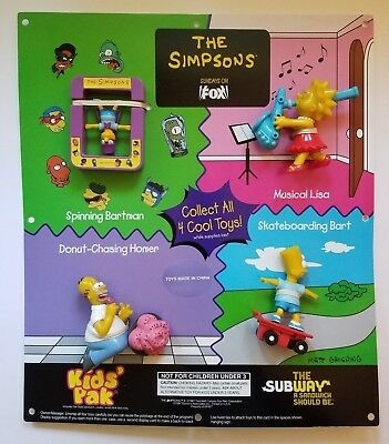 Vintage 1997 Subway Kids Pack Display The Simpsons Toys Lisa Bart