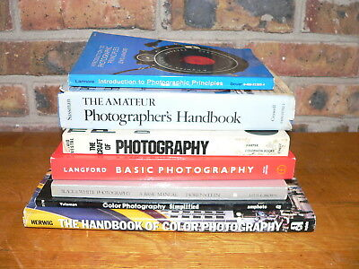 Lot of 7 Basic Photography Books~Film Camera Handbooks for Amateurs, Students