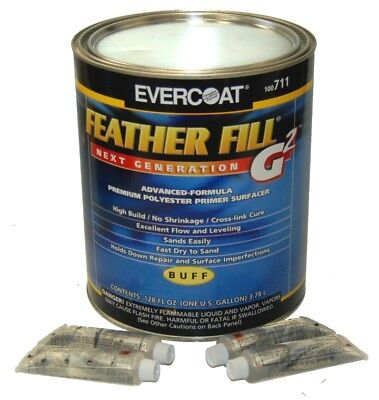 EVERCOAT FEATHER FILL G2 Buff POLYESTER PRIMER SURFACER-Auto Paint