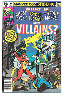 What If Vol. 1 # 17 Marvel Comics 1979 Ghost Rider Spider Woman Captain Marvel