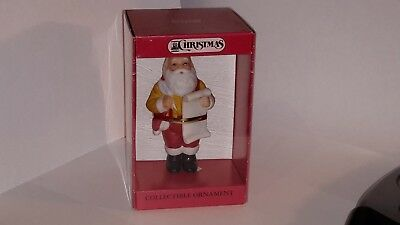 One New in Box! 1990 Schmid Jolly Ol' Saint Nick Collectible Ornament