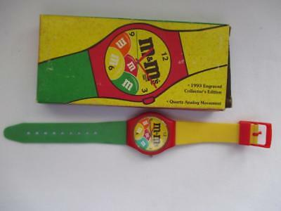 m&m WATCH COLLECTOR'S EDITION 1993 QUARTZ WITH BOX JAPAN MOVT COLORFUL