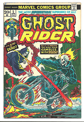 Ghost Rider vol. 1 # 5 Marvel Comics 1974 Roulette .. And Vegas Writhes In Flame