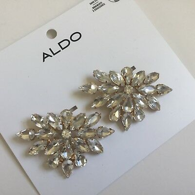Aldo  Gold Toned & Clear Shoe Clips