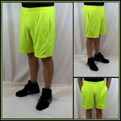 Nike Lined Neon Green Athletic/Basketball/Workout Short Sz (L) Large #13807B