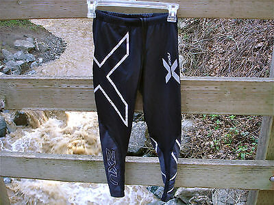 2XU Elite Black Compression Tights * XS *  Workout Running Pants Womens