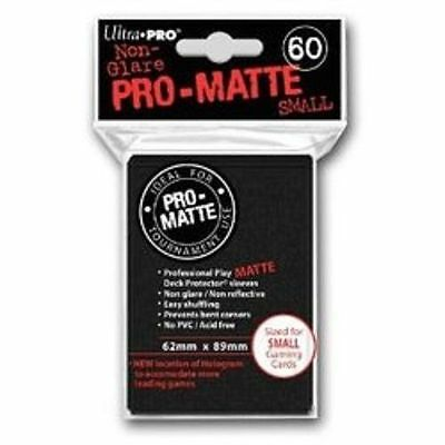 60 ULTRA PRO Deck Protector Small Ygo Pro-Matte Black Sleeves