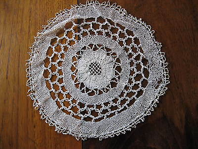 Very fine French antique silk lace - hand cloaked - more than a 120 years old!