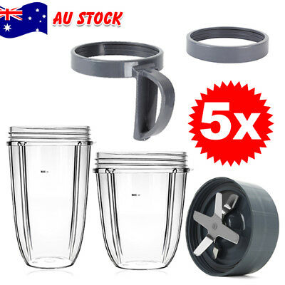 Tall Cup/Lids/Extractor Blade Accessory FOR Nutribullet Blender Replacement cups