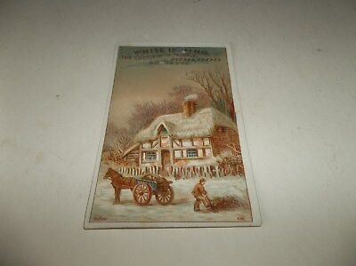 ca 1900 Vtg White Sewing Machine Advertising Trade Card with Bufford Artwork